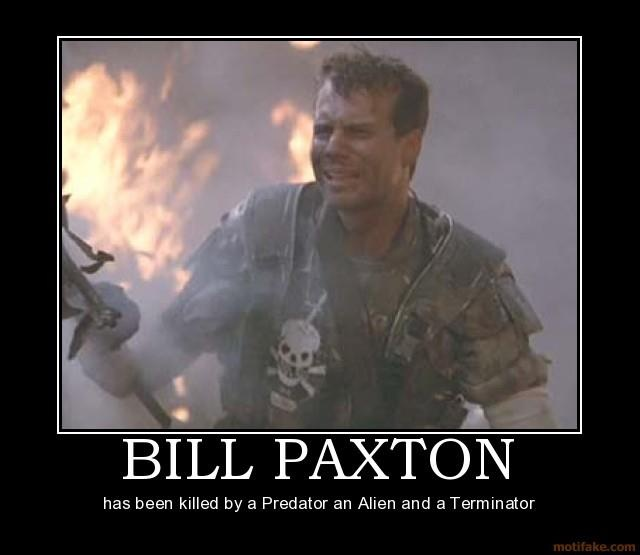 """Bill Paxton! """"Game over, man, GAME OVER!""""  Loved his freaked out panic attack in Aliens!"""