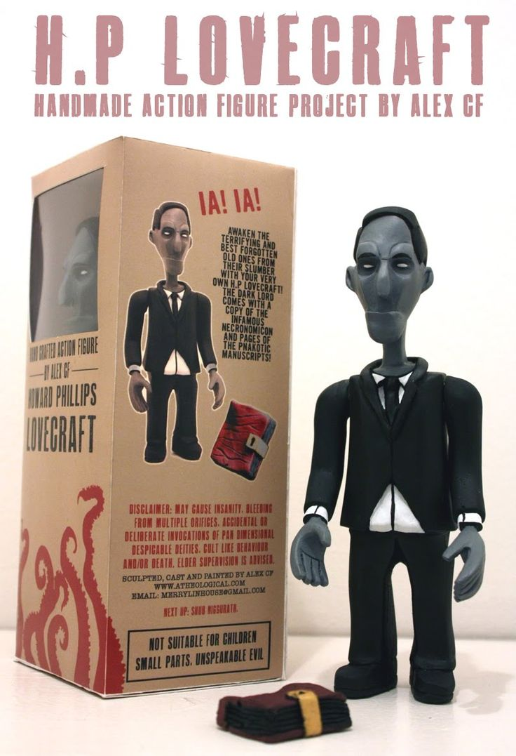HP Lovecraft doll  Hey, Secret Santa 2013? You seeing this? Previous PINNER wrote this!!!!