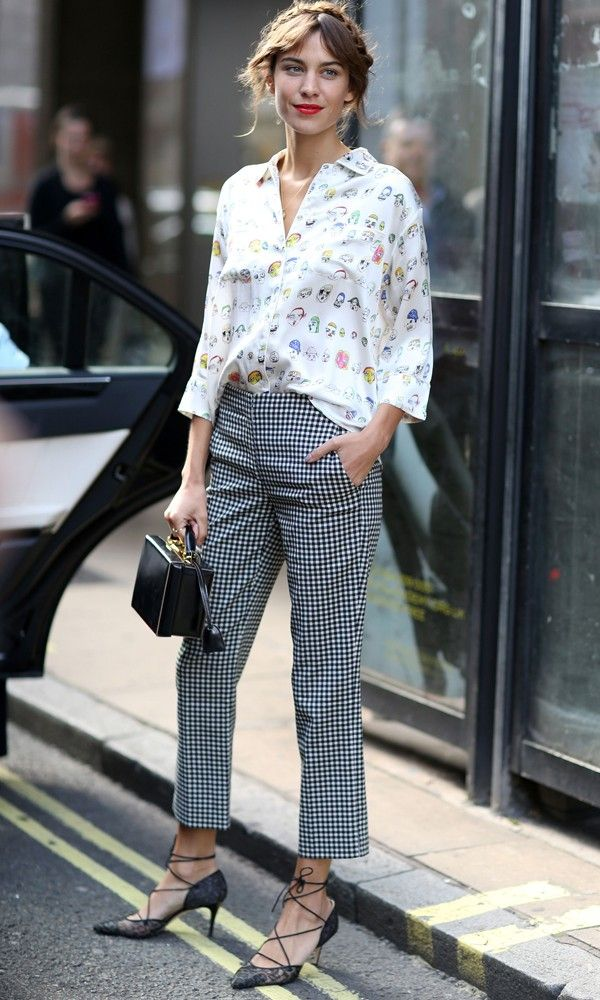 Alexa Chung Gets Clashing Prints So Right - Tuesday 16th September | InStyle UK
