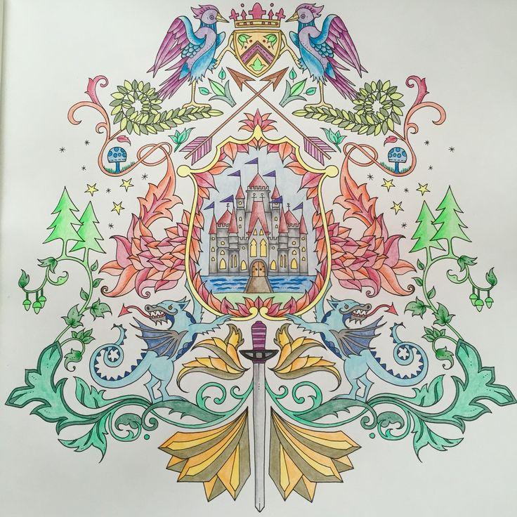 Enchanted Forest Colouring Book Johanna Basford Faber Castel Pencils