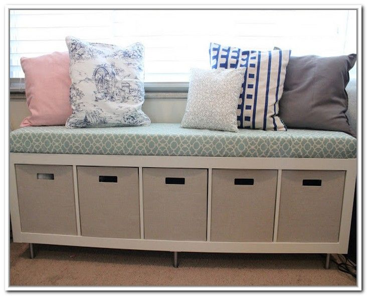 Diy Storage Bench With Cushion General Storage Best Storage
