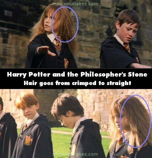 Hermione's hair - Top 15 biggest Harry Potter film mistakes