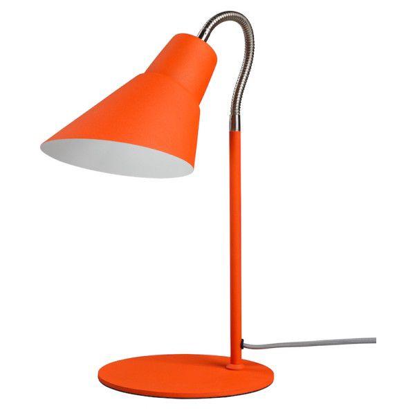 Orange Gooseneck Desk Lamp ($76) ❤ liked on Polyvore featuring home, lighting, desk lamps, gooseneck desk lamp, orange desk lamp, orange lamp, gooseneck lamp and goose neck lights