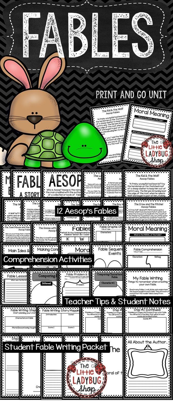 Fables is possibly one of my favorite genres to teach children! I created a packet that will work wonderfully for your students!