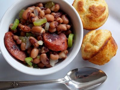 Yesterfood : Hoppin' John and Hush Puppy Mini Muffins