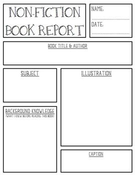 non fiction book report organizer About the characters, setting or plot if so, what do you notice if this is nonfiction,  what is the central topic what do you think you will learn reading this book.