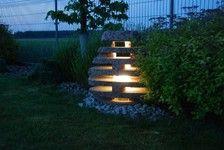 Gartenlampe aus Findling- ab 150 Euro