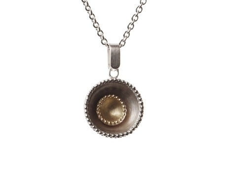 'Blossom Pendant' by Lisa Crawford Jones Sterling silver, 18ct yellow gold Available online and in store http://egetal.com.au/store/product/LCJ018
