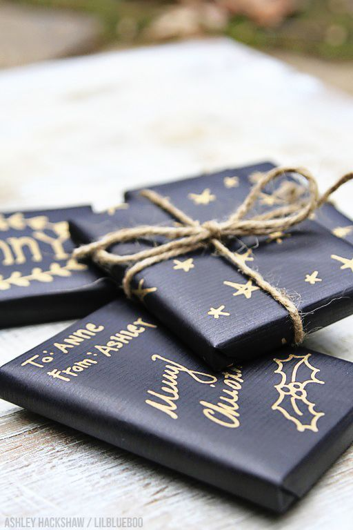 love the black wrapping paper. goes with everything and fits any occasion.