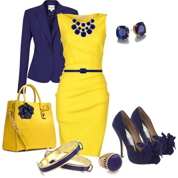 """Color: Azul + Amarillo"" by jemy-catalan on Polyvore"