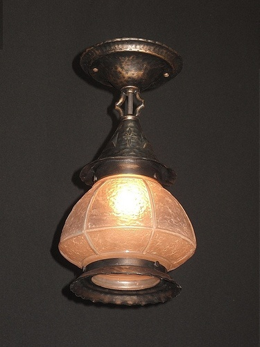 semiflush vintage porchlight fixture from the late 20s and 30s - Antique Light Fixtures