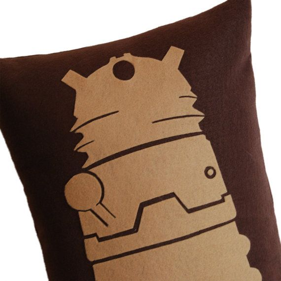 Dalek Doctor Who Inspired Pillow by diffractionfiber on Etsy, $30.00
