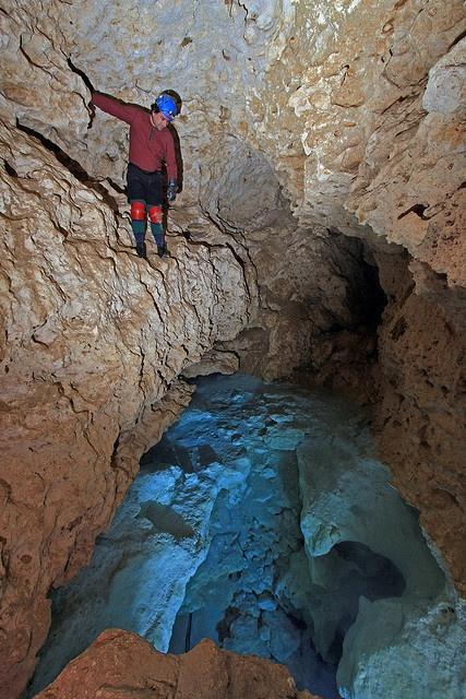 Ocala Caverns, Lake Room, Marion County, Florida, Brent Aulenbach 1 by Alan Cressler, via Flickr