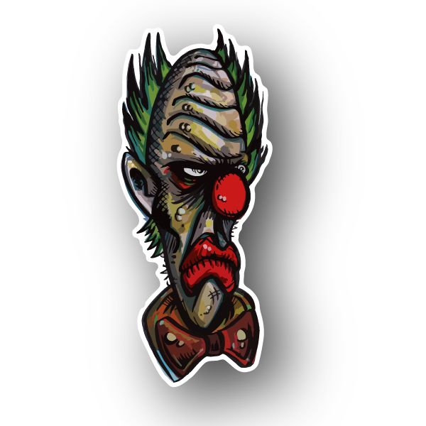 Angry clown vinyl sticker