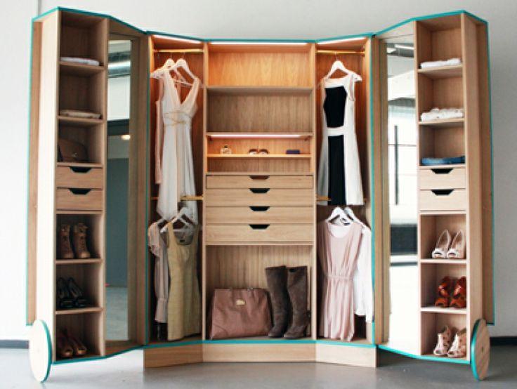 Mini vestidor para espacios peque os masisa inspira for Diseno de espacios pequenos