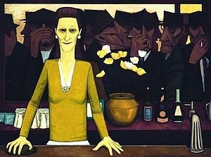 """John Brack - The Bar: John Brack was an Australian painter, and a member of the Antipodeans group. According to one critic, Brack's early works captured the idiosyncrasies of their time """"more powerfully and succinctly than any Australian artist before or since."""