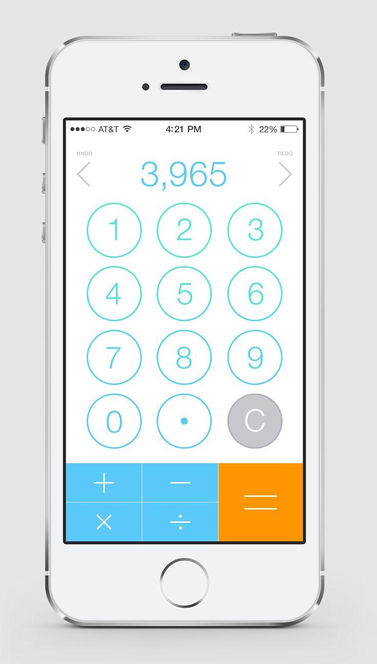 iOS7 Calculator / David Kovalev