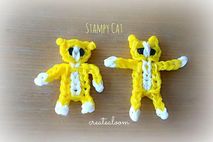 Stamp Cat Minecraft   Stampy Cat Minecraft Charm/Mini Figurine Rainbow Loom Tutorial by ...