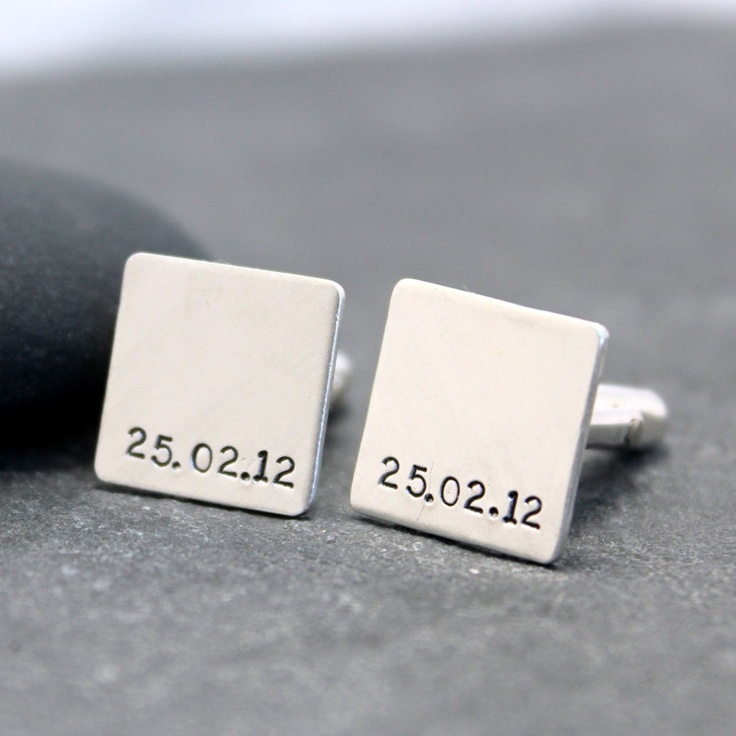 THE DAY initial Cufflinks Cuff links for men by RoyalCountess, $96.00