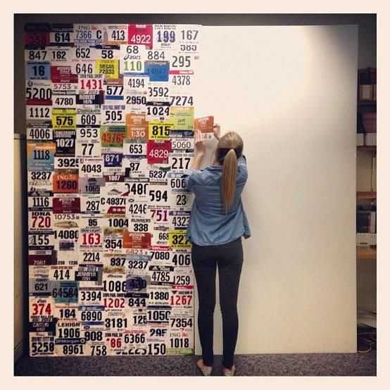 tonefastfitness: Motivation: Runner's wall Okay so I need to start one of these. I only have three so far, but this is just motivation to run more races!
