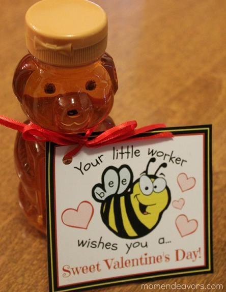 Bee Themed Teacher Valentines Gift