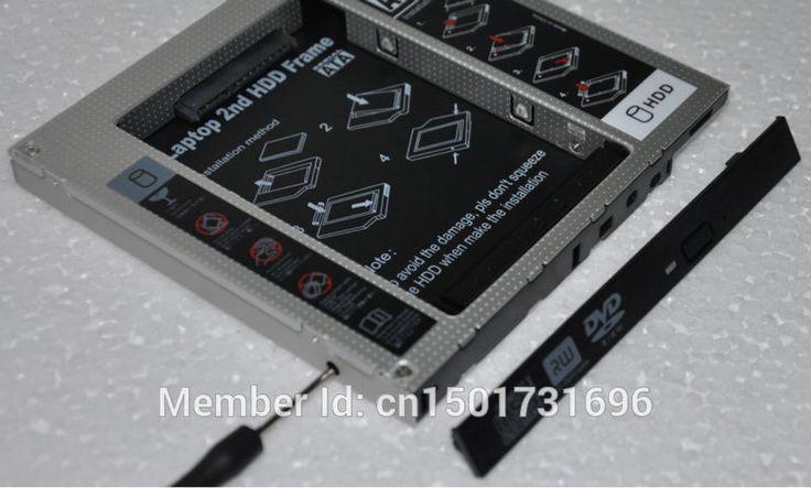 Новый 2-й SSD HDD HD SSD Жесткий Диск Caddy адаптер SATA для 12.7 мм CD/DVD-ROM Оптический Bay Всеобщей caddy