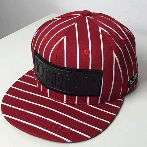 8.03$  Watch here - http://dilyr.justgood.pw/go.php?t=168615201 - Stylish Letters Rubber Label Embellished Striped Baseball Cap For Men