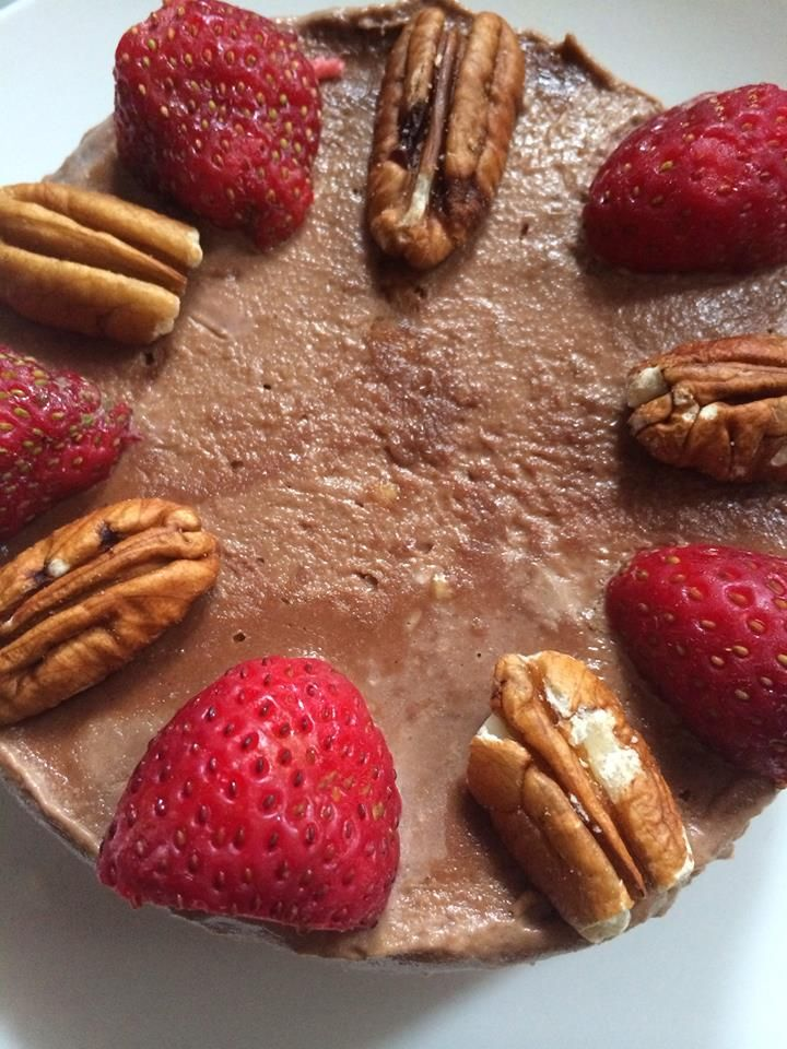 Raw cacao mousse cake