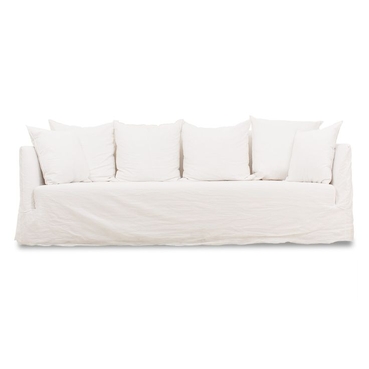 17 best images about white things on pinterest white for White linen sectional sofa