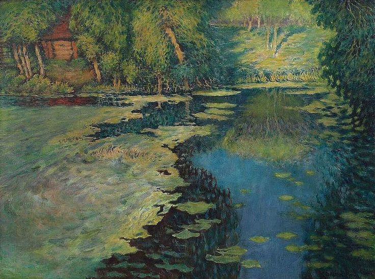 Václav Radimský - Small Arm of the River with the Red Cottage