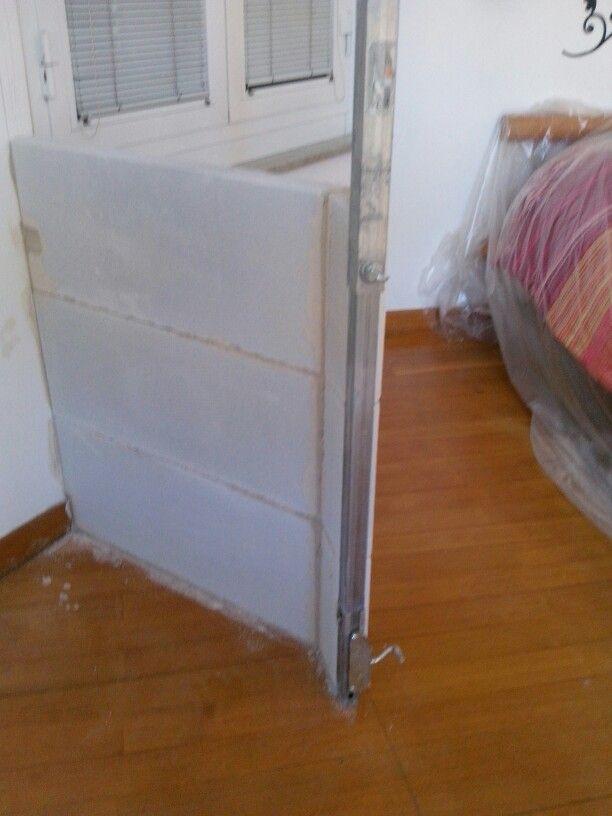 Creazione di cabina armadio in muratura  in piccolo spazio