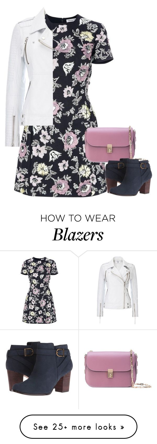 """""""Untitled #1220"""" by mrseclipse on Polyvore featuring Christian Dior, Valentino, Cole Haan and Wallis"""