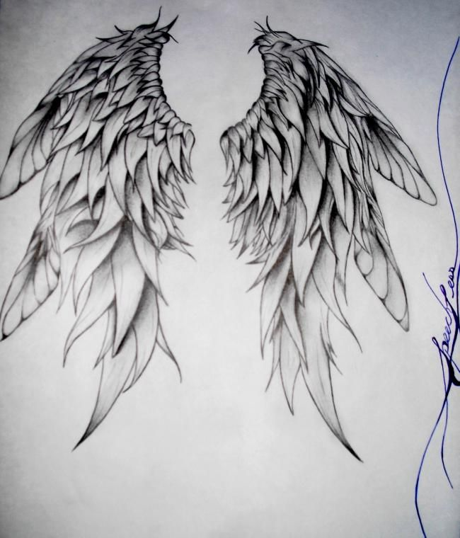 how to draw angel wings   Speechless StreetCasso Customlifestyles