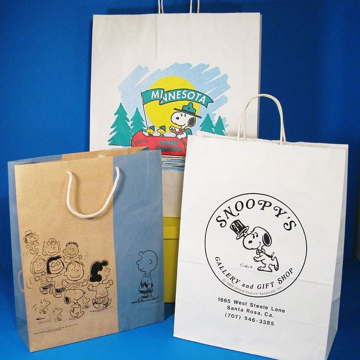 CollectPeanuts.com on Instagram - Shop 'til you drop! #snoopy #shoppingbag…