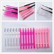 rose hellrosa nagel kunst bürstenhalter set kugelschreiber displayer stand-tools acryl uv gel pinsel ruhen inhaber für nageldekorationen(China (Mainland))