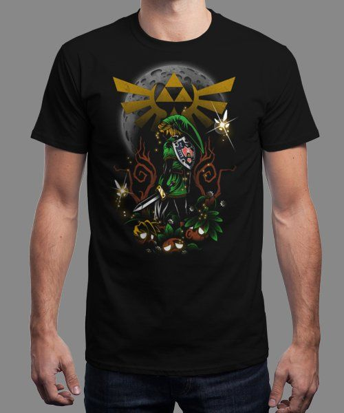 """Majora's Night"" is today's £9/€11/$12 tee for 24 hours only on www.Qwertee.com Pin this for a chance to win a FREE TEE this weekend. Follow us on pinterest.com/qwertee for a second! Thanks:)"