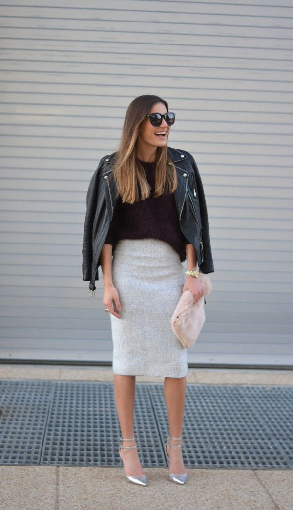 sweater style tips gray pencil skirts skirts and style
