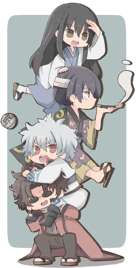 Katsura, Shinsuke, Gintoki, and Sakamoto