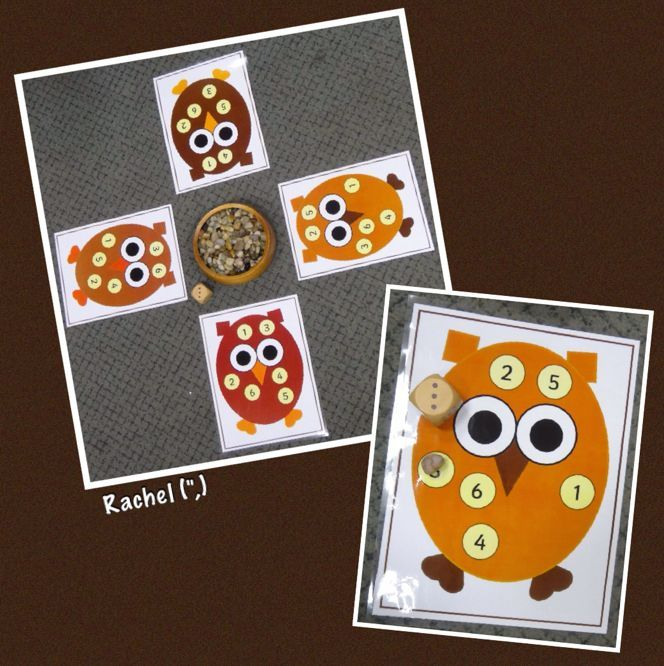 "Owl game - FREE printable available... from Rachel ("",)"