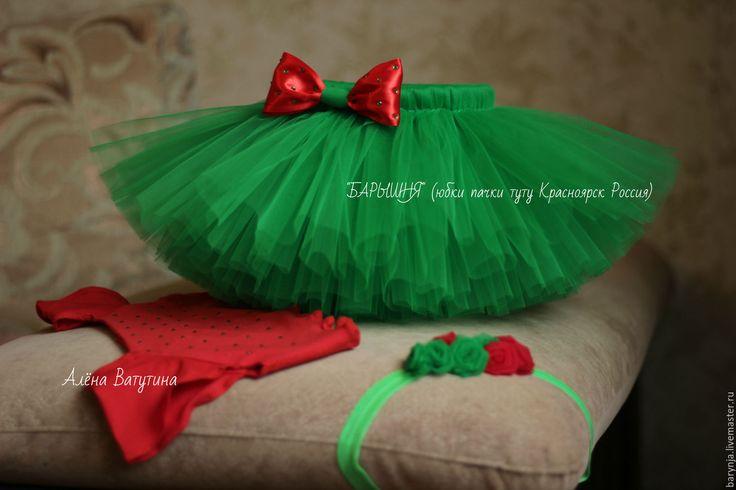 Купить Детская юбка пачка шопенка туту, комплект - зеленый, юбка для девочки, юбка из фатина