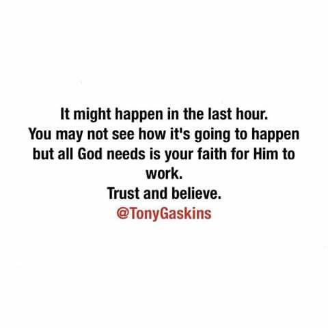Trust & believe!