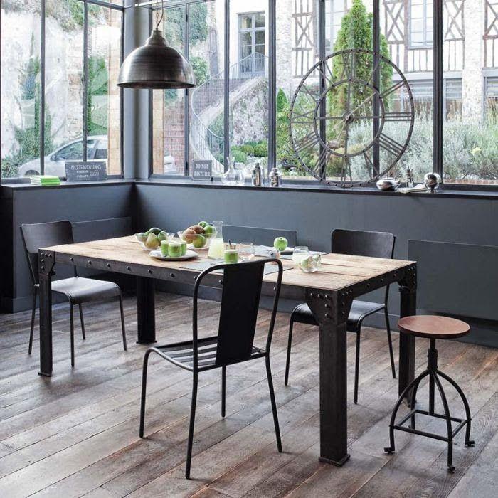 Salas de jantar com ares industriais