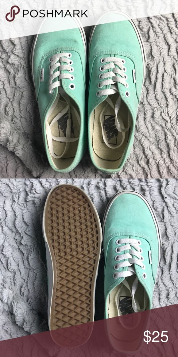 Mint Vans •Mint Vans worn twice •Size 8 Vans Shoes Sneakers