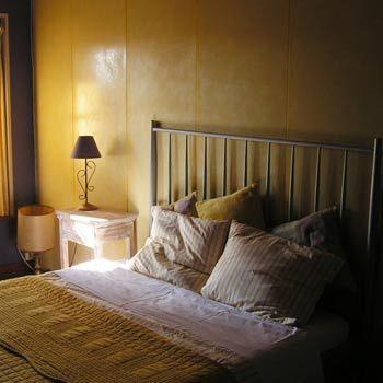 leuke kleine camping met gite midden west frankrijk. The master bedroom in the gîte at La Grosse Talle (Poitou-Charentes, France)