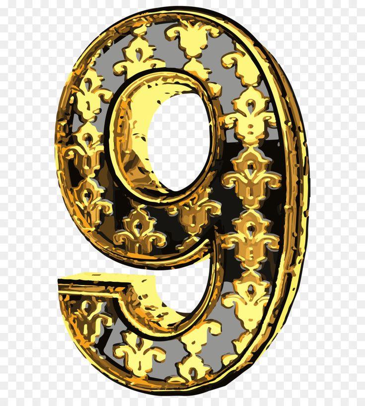 Число 9 для открытки, днем рождения андрею