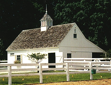 Lovely white stable.