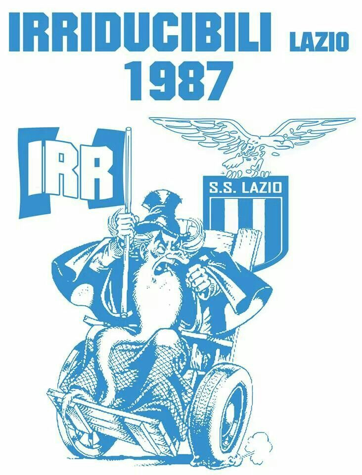 Vecchio adesivo Irriducibili - Old Irriducibili's sticker
