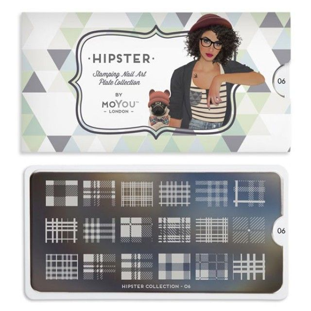 Hipster Nail Art Image Plate 06