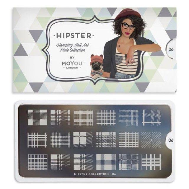 Hipster Nail Art Image Plate 06