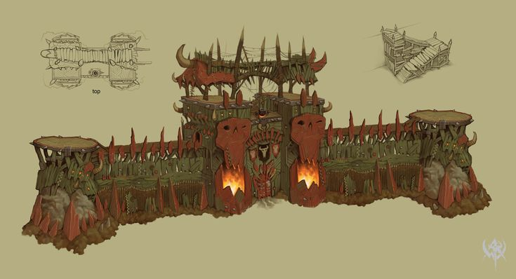 WAR Orc fortress gate
